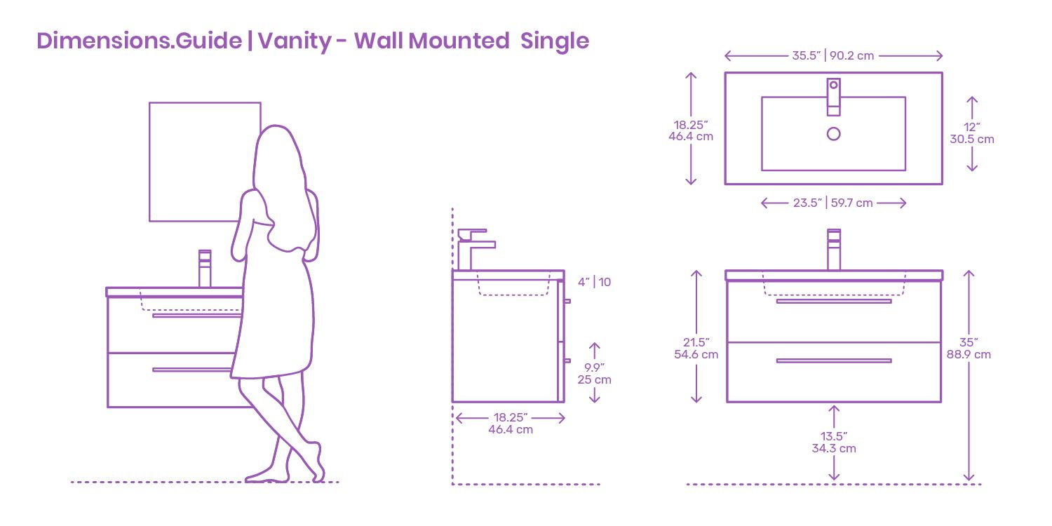 Modern Wall Mounted Single Bathroom Vanities Are Simple Solutions