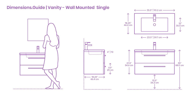 Modern Wall Mounted Single Bathroom Vanities Are Simple Solutions
