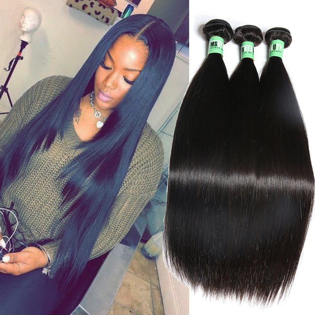 Msbeauty 3 Bundles Of Peruvian Straight Hair 10a Unprocessed Virgin
