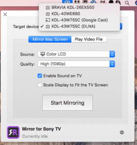 Mirror Your Mac Or Macbook On A Sony Tv Screen Airbeamtv Sony Tv Sony Cool Gadgets To Buy