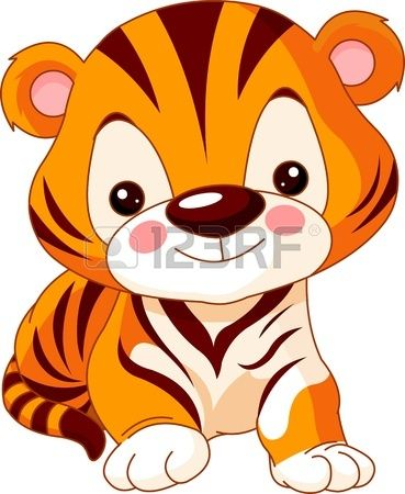 Fun zoo. Illustration of cute Tiger