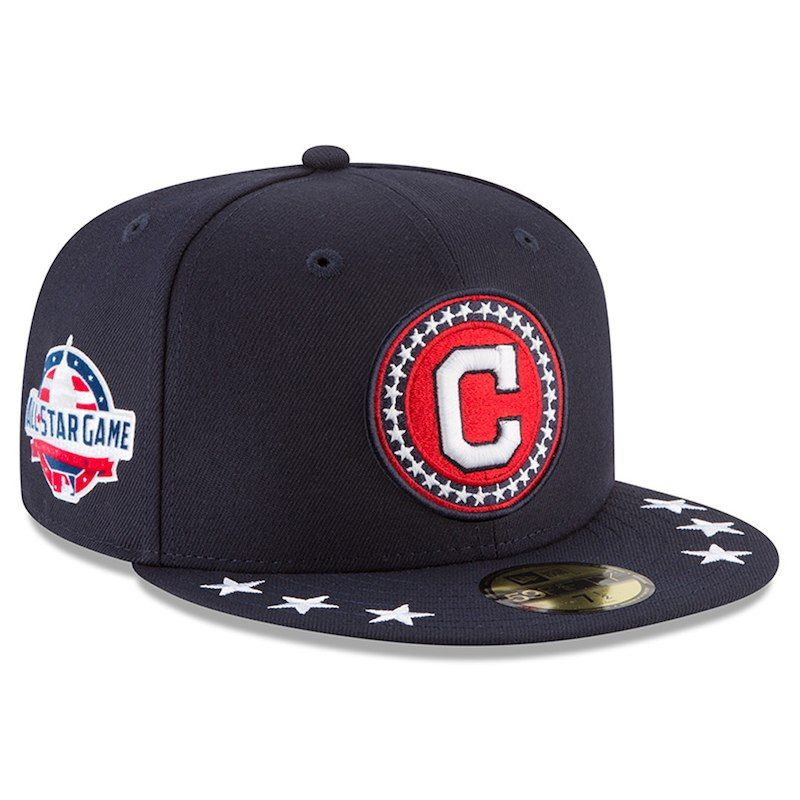 82cbbde49 Cleveland Indians New Era 2018 MLB All-Star Workout On-Field 59FIFTY Fitted  Hat – Navy