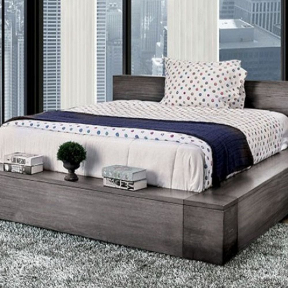 King Bed Cm7628gy Ek Dimensions 97 L X 95 W X 30 H Materials