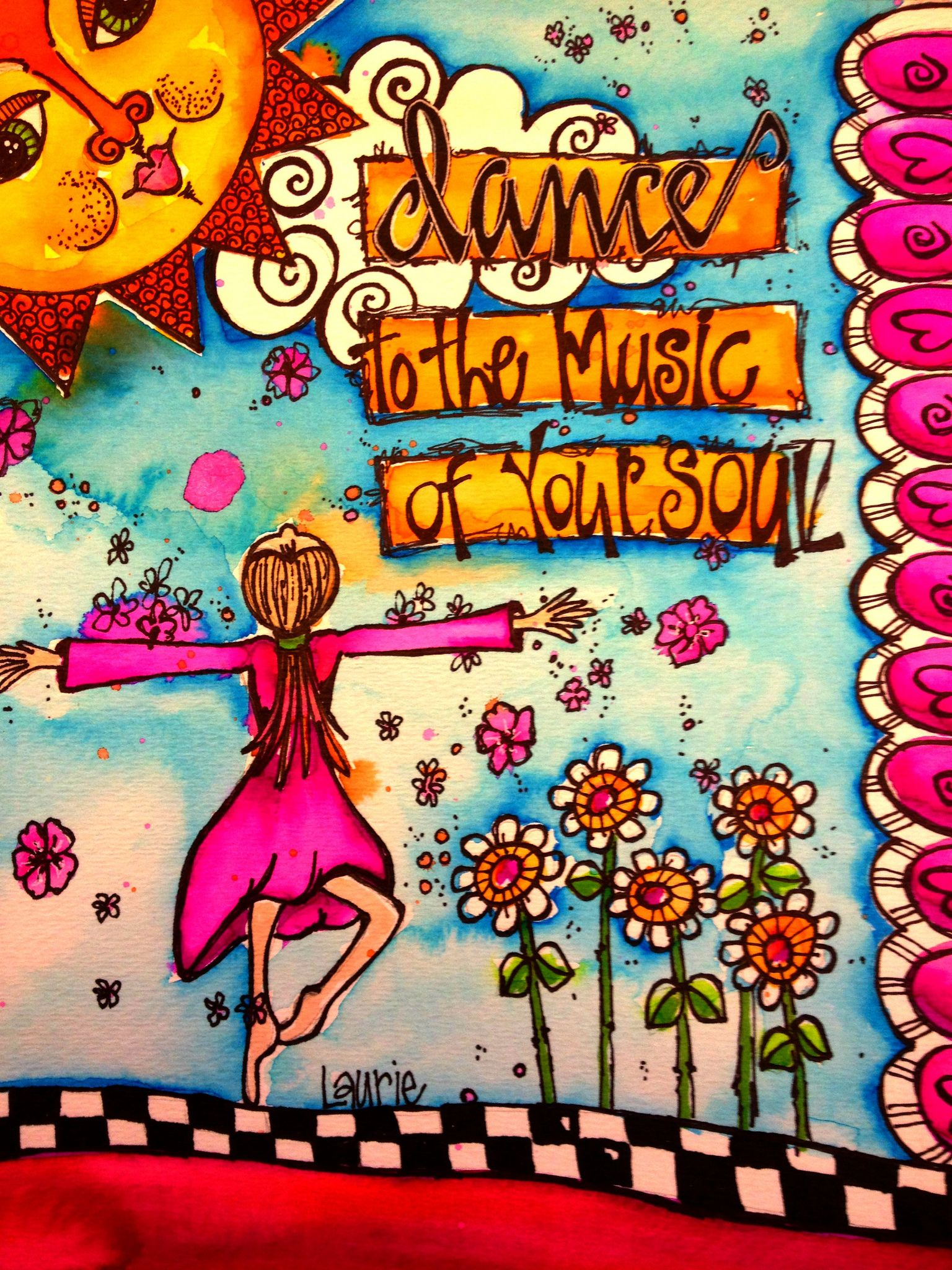 dance to the music   by Laurie Miller Designs