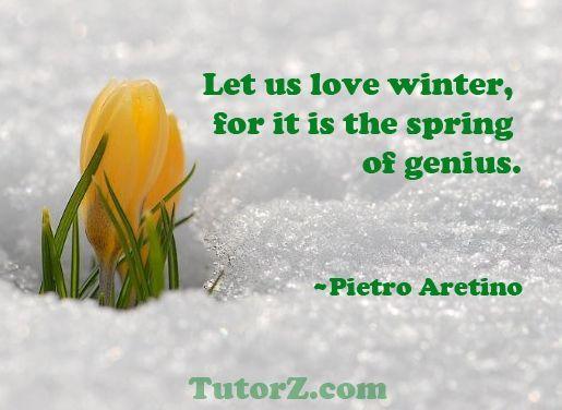Inspirational Winter Sayings
