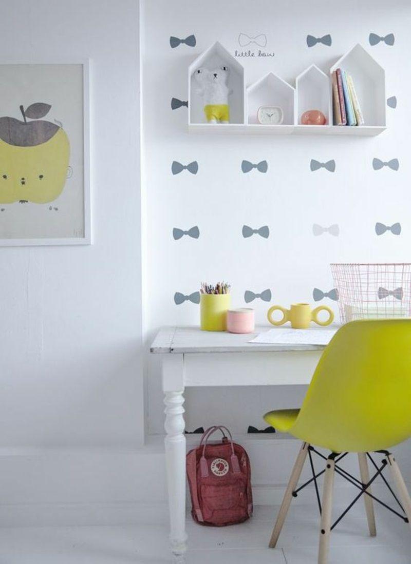 Farbige Tapeten für Kinderzimmer mit lustigen Motiven | kinderzimmer ...