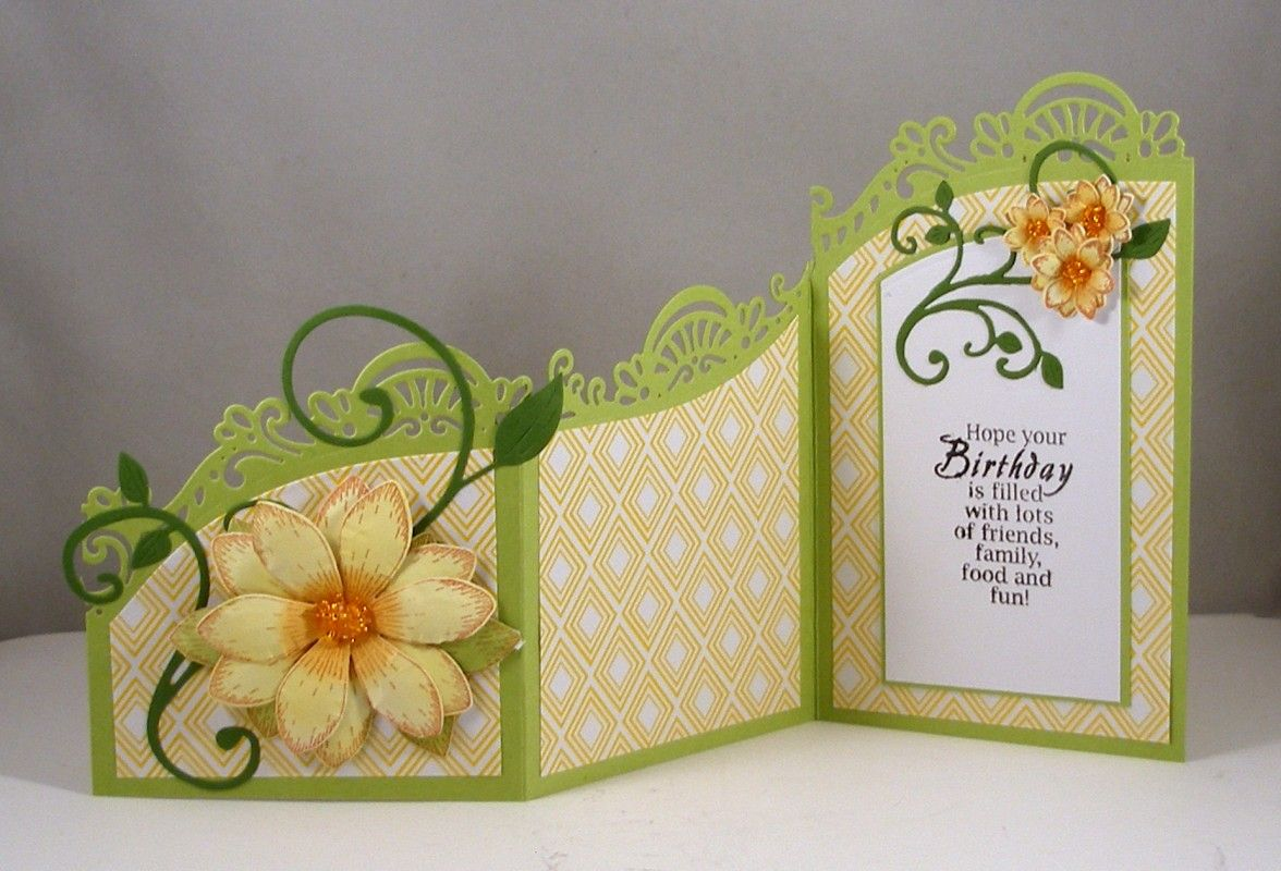 IC594 Spring Birthday Z-Fold Card - open by Clownmom - Cards and Paper Crafts at Splitcoaststampers