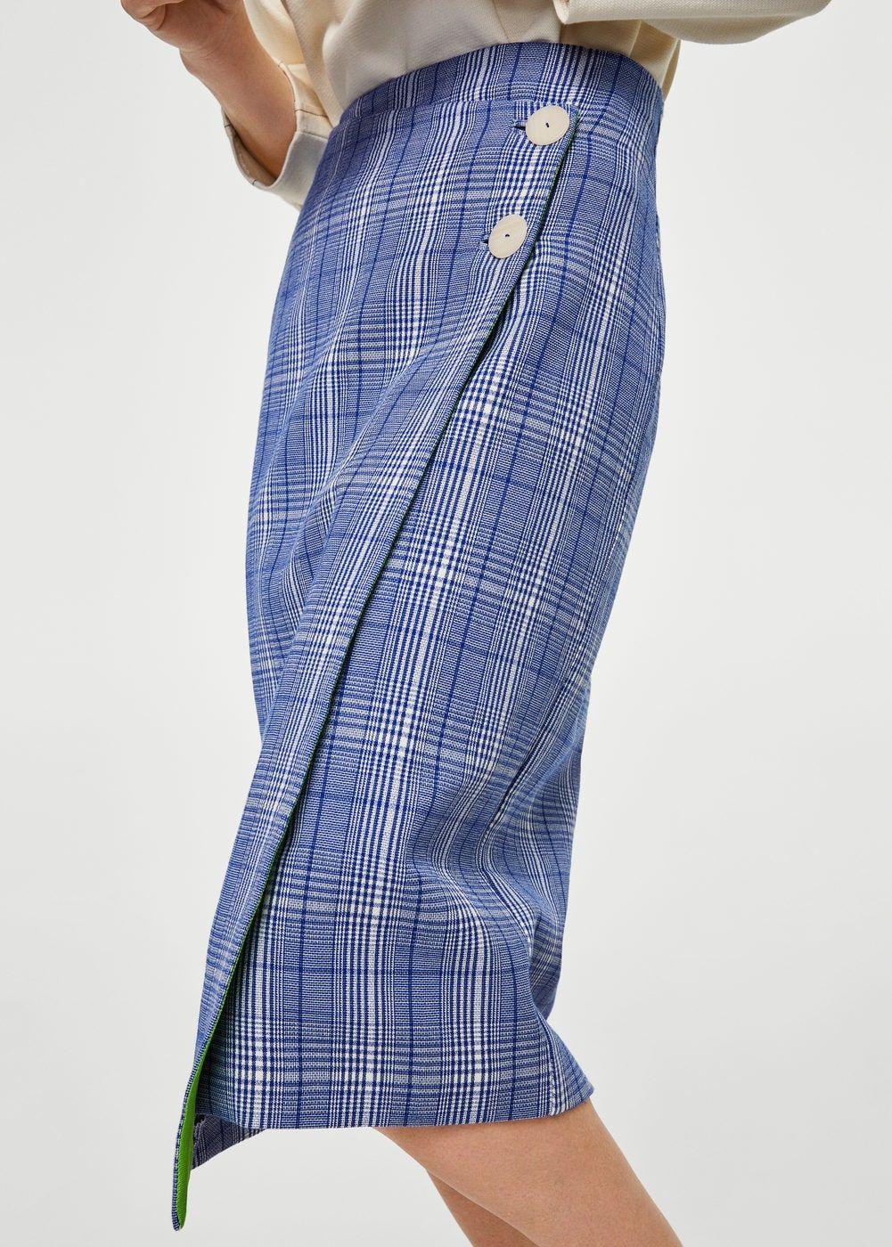 5c278e10c55 Κρουαζέ καρό φούστα - Γυναίκα   women's fashion   Faldas, Faldas ...