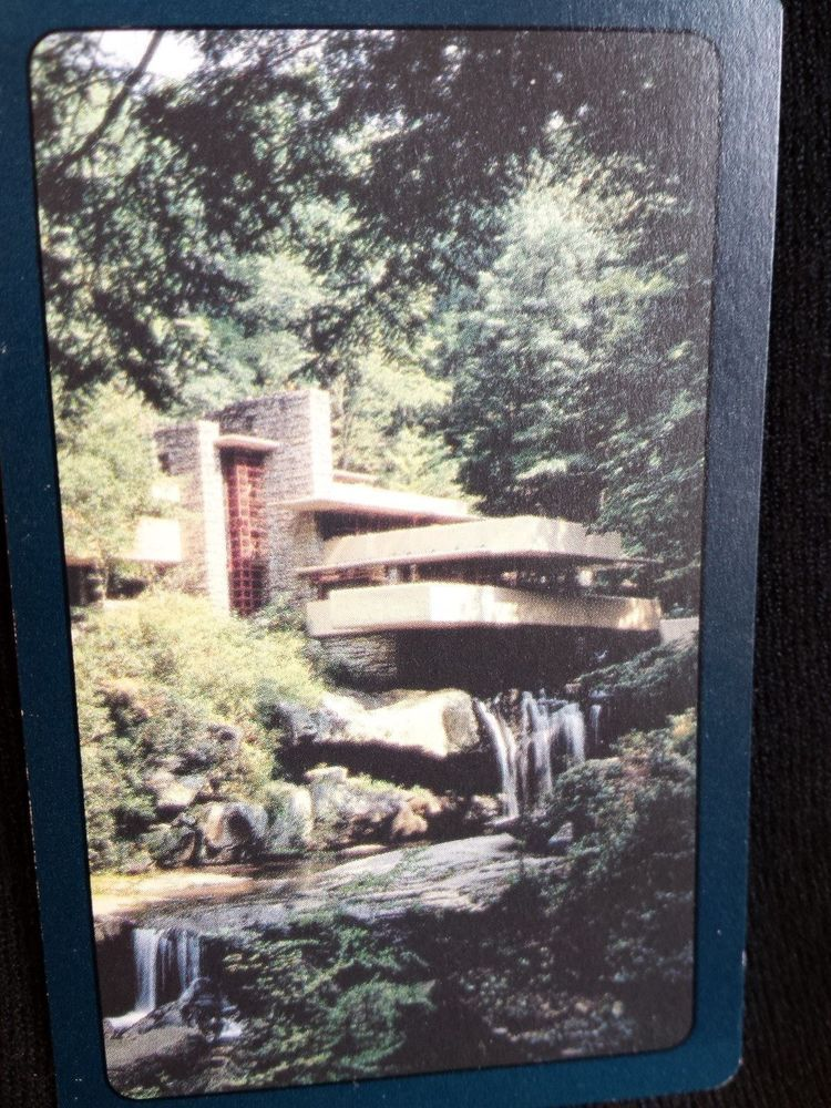 Frank Lloyd Wright Fallingwater Playing Cards Deck Complete Falling Water In Collectibles Paper Playing Cards Ebay Deck Waterfall Water