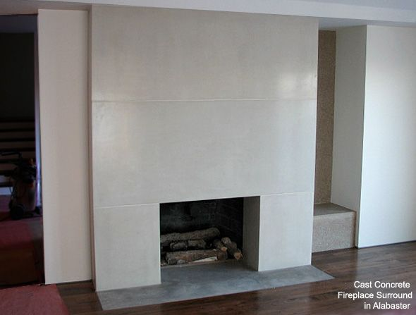 concrete surrounds for fireplaces - Google Search