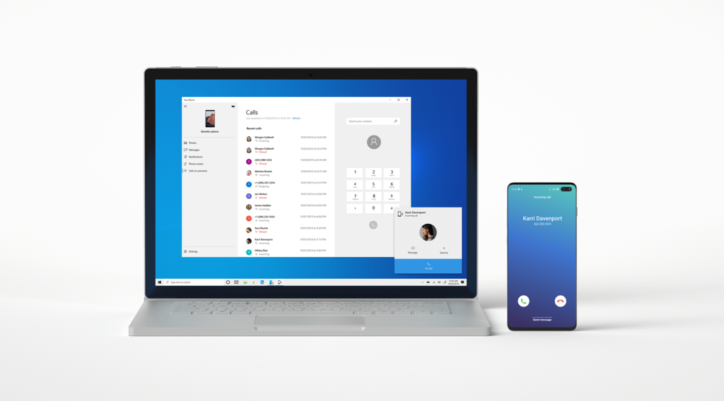 Microsoft's Your Phone app now supports Android call