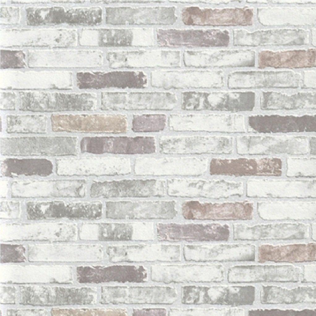 NEW LUXURY ERISMANN BRIX GREY BRICK WALL EFFECT EMBOSSED TEXTURED
