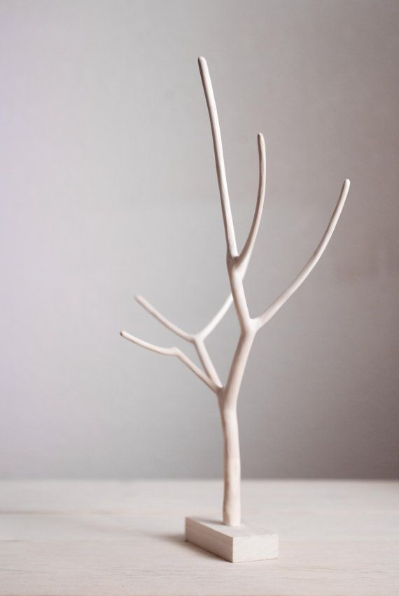 Wooden Jewelry Stand Tree Branch Decor