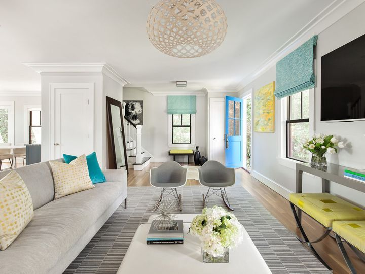 Image Result For Grey Living Room With Pops Of Color  Let's Captivating Clean Living Room Decorating Design