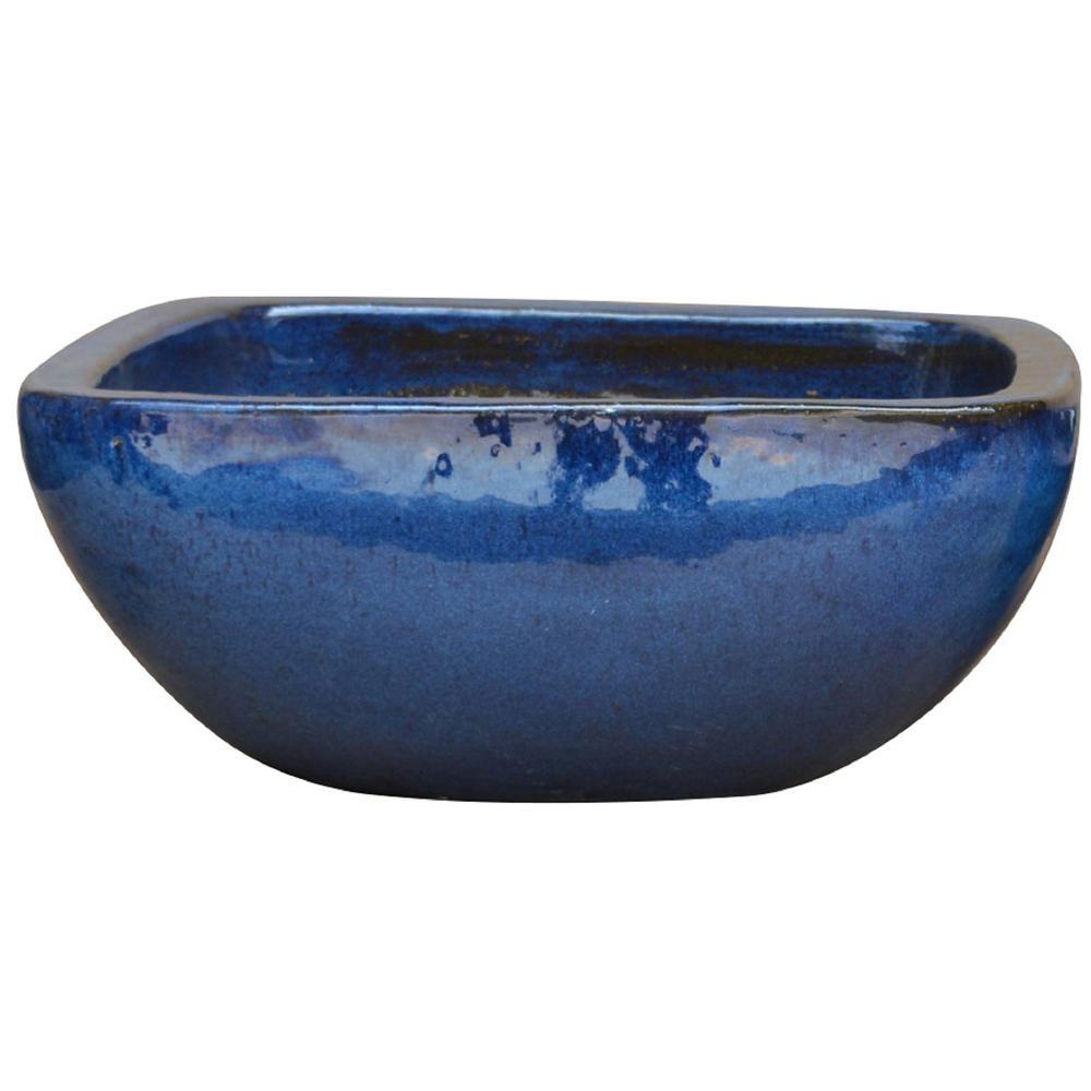 Null 16 In Dia Thorn Blue Ceramic Laguna Bowl