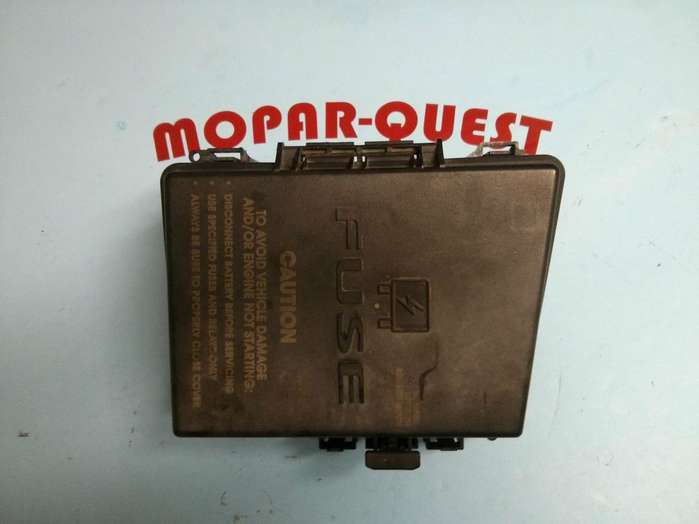 2005 Chrysler Pacifica Module  Power Distribution  Fuse