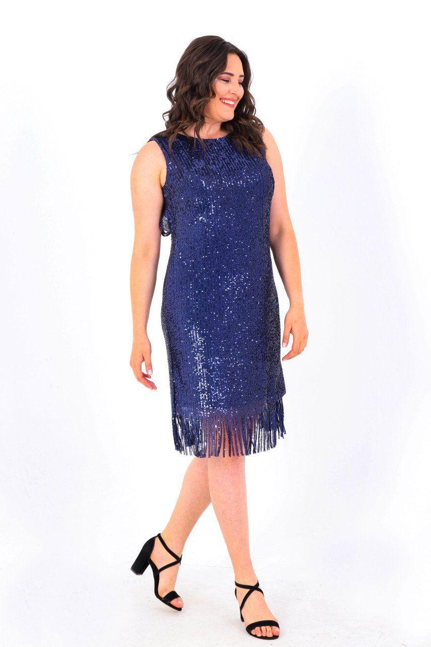 Buyuk Beden 763 Tuvid Elbise Lacivert Kadin Giyim Moda Stilleri The Dress