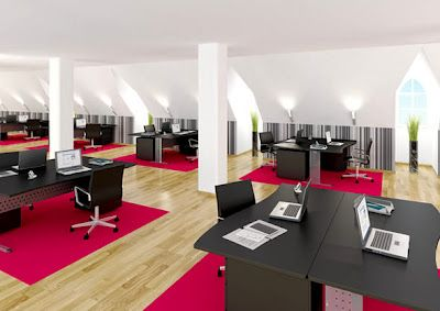 interesting office spaces campus office interior ideas from design office space online love the pop of color splash makes any space more interesting spaces