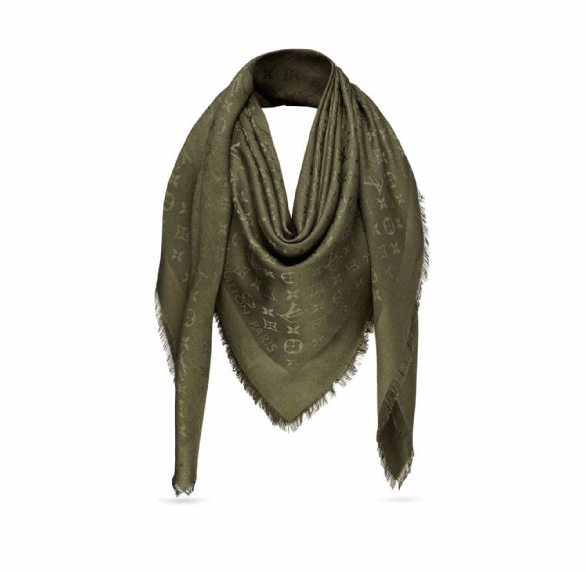 848e9f8ee05c Louis Vuitton M75698 Monogram Shawl Scarf, Kaki -- Awesome products  selected by Anna Churchill