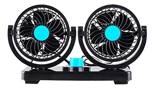 Quiet Strong Dashboard Cooling Fan for Sedan SUV RV Boat Auto Vehicles or Home AboveTEK Dual Head Car Fan 12V DC Electric 2 Speed Fans