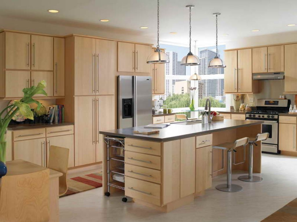 Modern Kitchen With Unfinished Pine Cabinets is part of Home Accessories Design Kitchen Cabinets - An unfinished pine kitchen cabinet is usually made from a combination of solid pine and plywood or particleboard