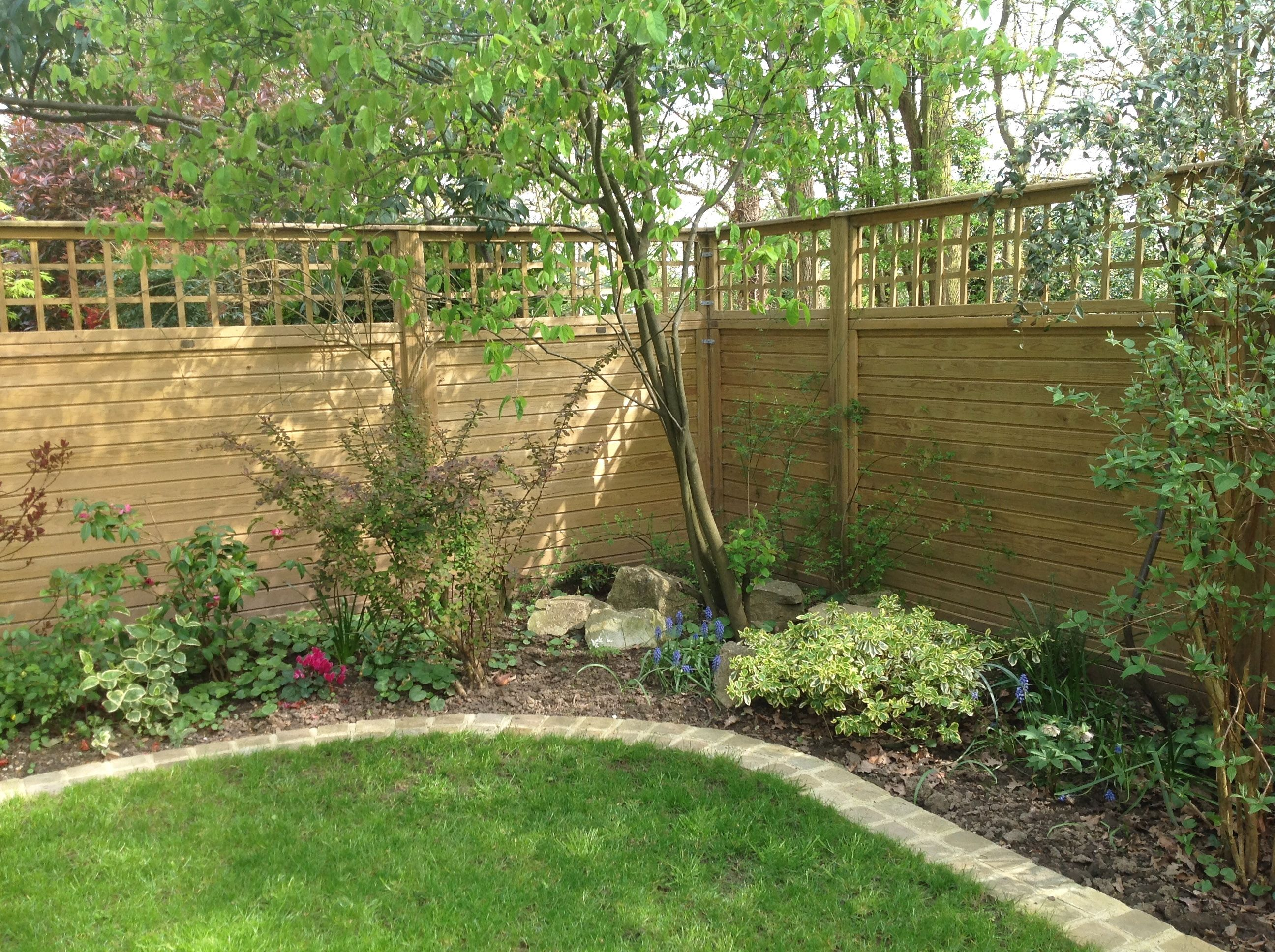 Square Trellis On Tongue And Groove Panels #Garden #Fencing #Trellis