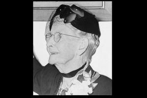 """September 7, 1860: Grandma Moses born. When she was in her 70's, her arthritis became too bad for her to continue her much admired needlework, so she decided to take up painting instead. It was either that or raise chickens. """"The important thing is to keep busy,"""" she said."""