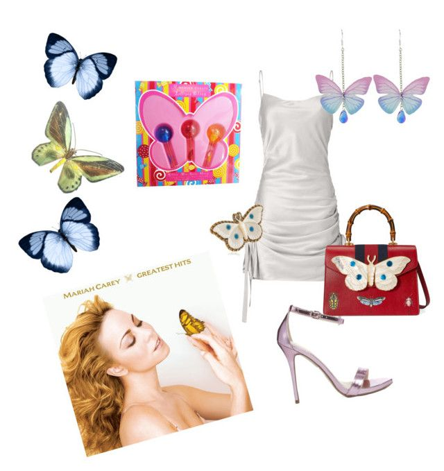 """""""Butterfly girl"""" by geraldinerodriguez ❤ liked on Polyvore featuring self-portrait, Gucci, Mariah Carey and Carvela"""