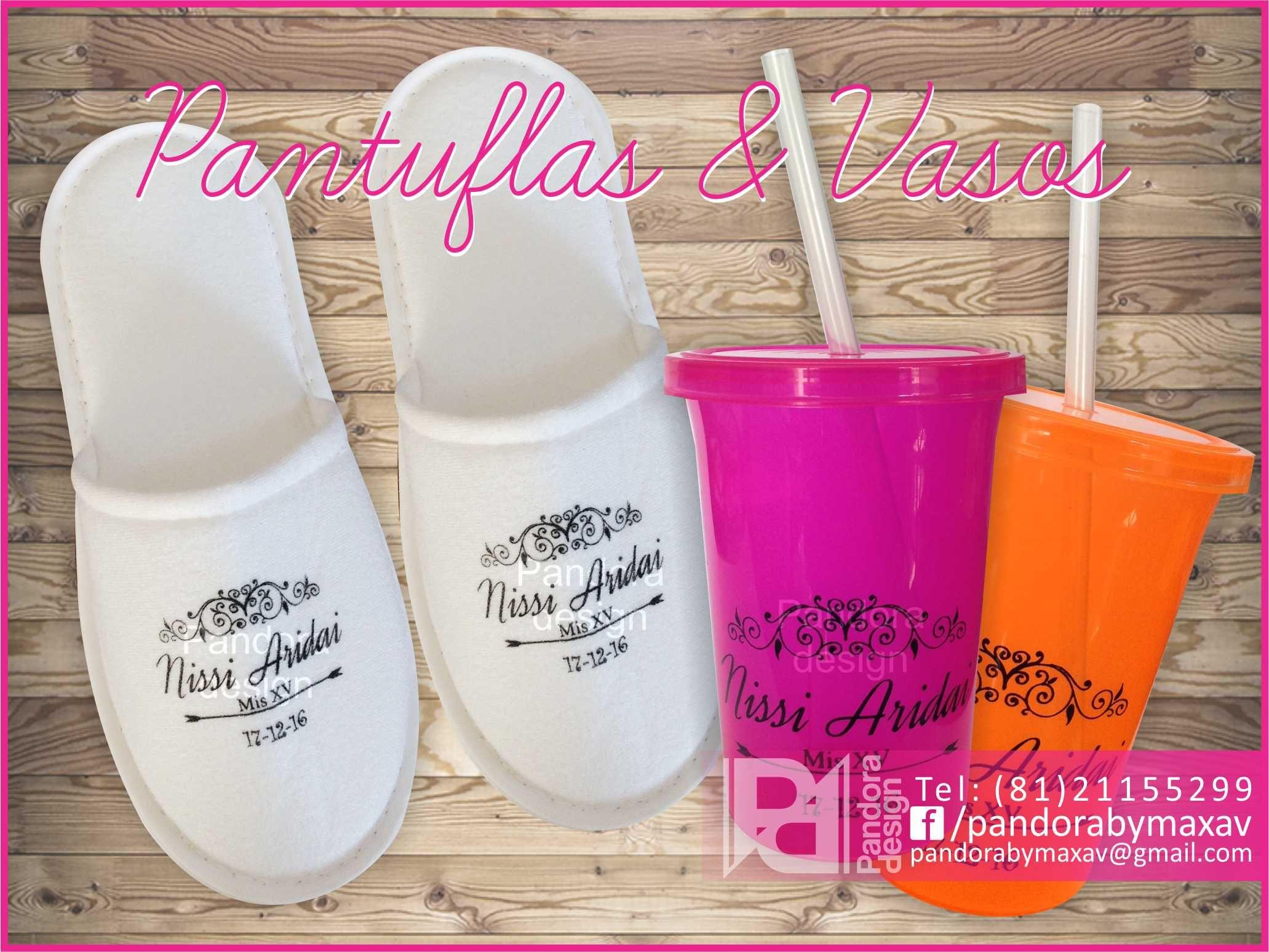 Paquetes para quince años #pantuflas #vasos