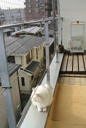 猫ちゃんのベランダからの脱走防止、転落防止目的で購入された お客様の声 Part1 ベランダ 猫 猫 インテリア