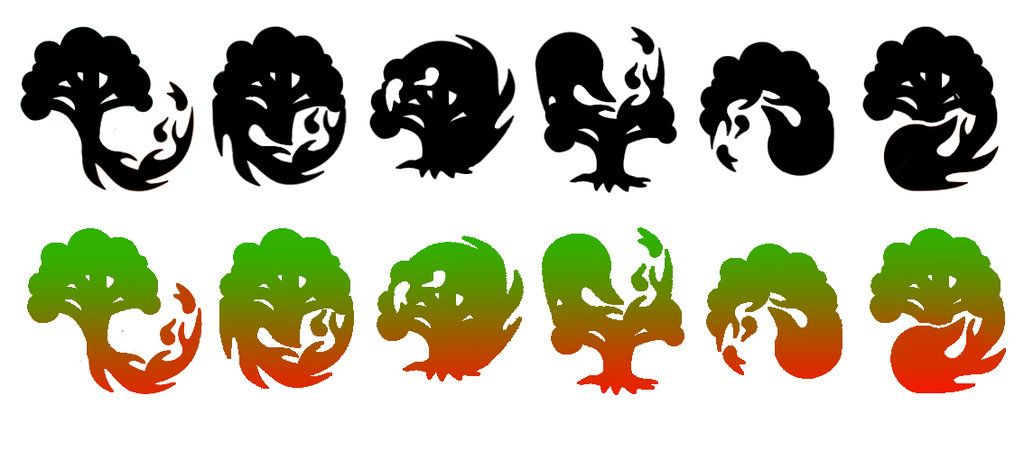 Hybrid Symbols Mana Mtg Pesquisa Google Mtg Mana Symbols