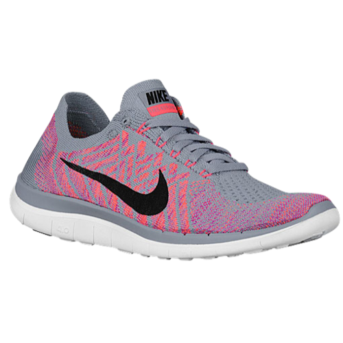 new styles a0356 c225d Nike Free 4.0 Flyknit 2015 - Women s - Running - Shoes - Wolf Grey Fuchsia  Flash Atomic Pink Black