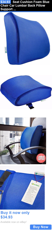 Seat and Posture Cushions: Seat Cushion Foam Blue Chair Car Lumbar ...