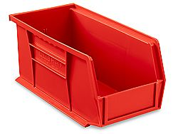 Plastic Stackable Bins Red 11 X 5 1 2 X 5 S 12415r Uline Stackable Bins Plastic Stackable Bins Bins