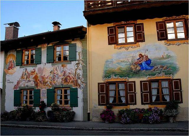 DIVAGAR SOBRE TUDO UM POUCO: A arte nas fachadas das Casas – Bavaria