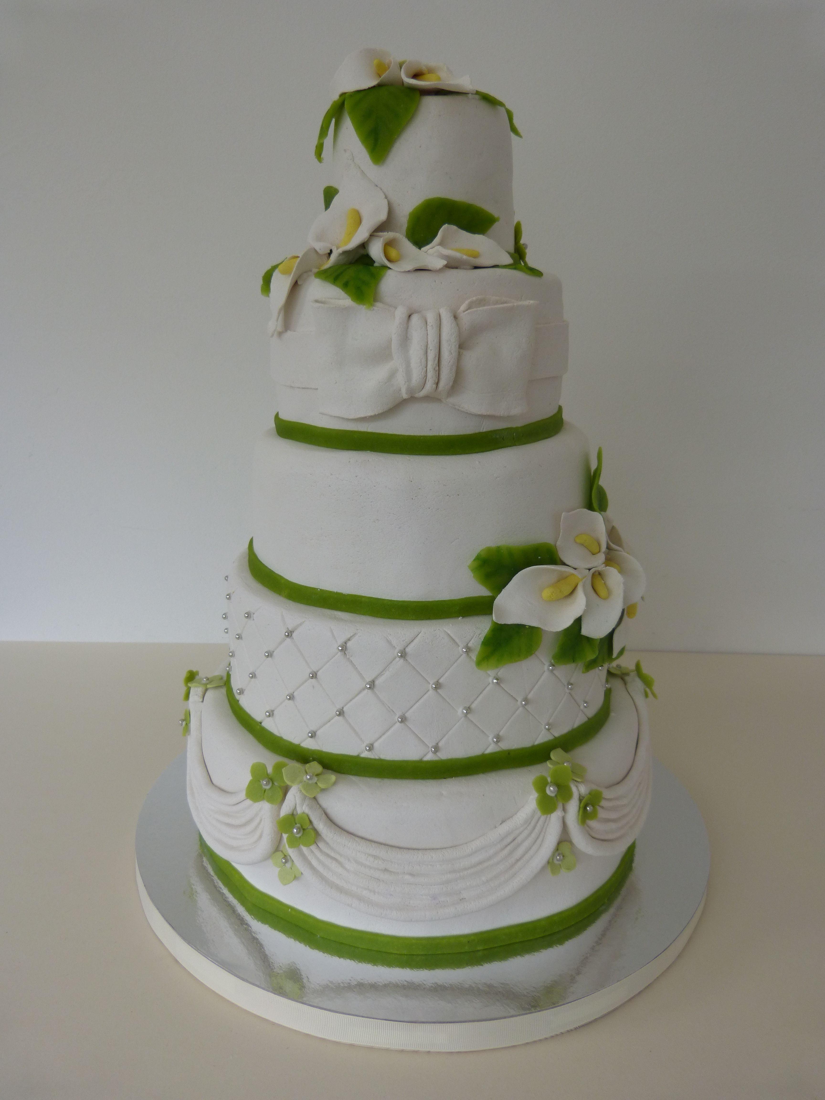 Wedding Cake Cake Cake Cube Hochzeitstorte Torte Grun Weiss