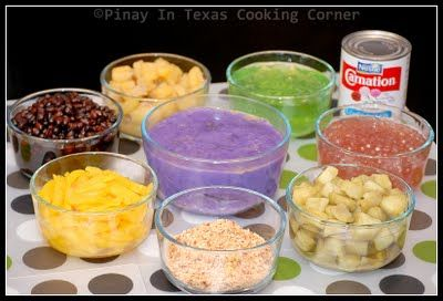 Pinay In Texas Cooking Corner: Halo-Halo (Mixed Fruits and Beans in Shaved Ice)