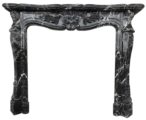 antique marble fireplace mantels. Louis black marble fireplace mantel is a French stlye  This an antique surround in St Black Marble Fireplace Mantels Carved