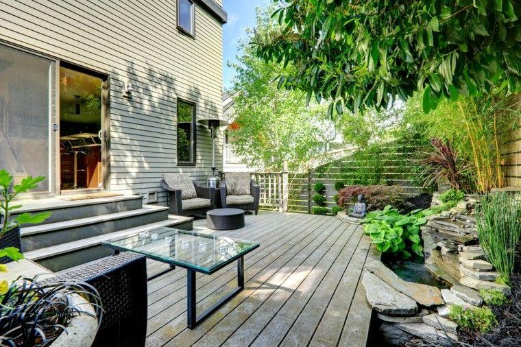 Jardines pequeños y patios traseros de diseño único | Estilo zen ...