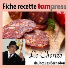 Recette du chorizo de jacques bernadou tom press charcuteries en 2019 pinterest - Faire du saucisson maison ...
