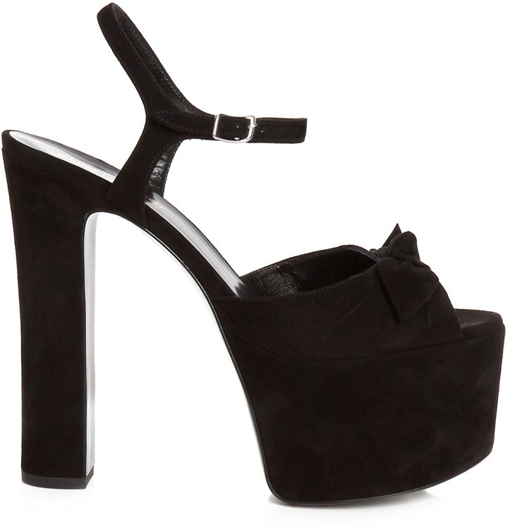 Yves Saint Laurent Suede Platform Sandals clearance extremely uLA1kc