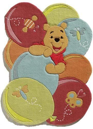 Werbung   Kinderteppich Winnie Pooh bunte Ballons 168x115cm. Süsser ...