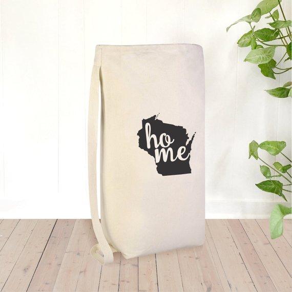 Wisconsin Laundry Bag Large Laundry Bag Laundry Hamper Home