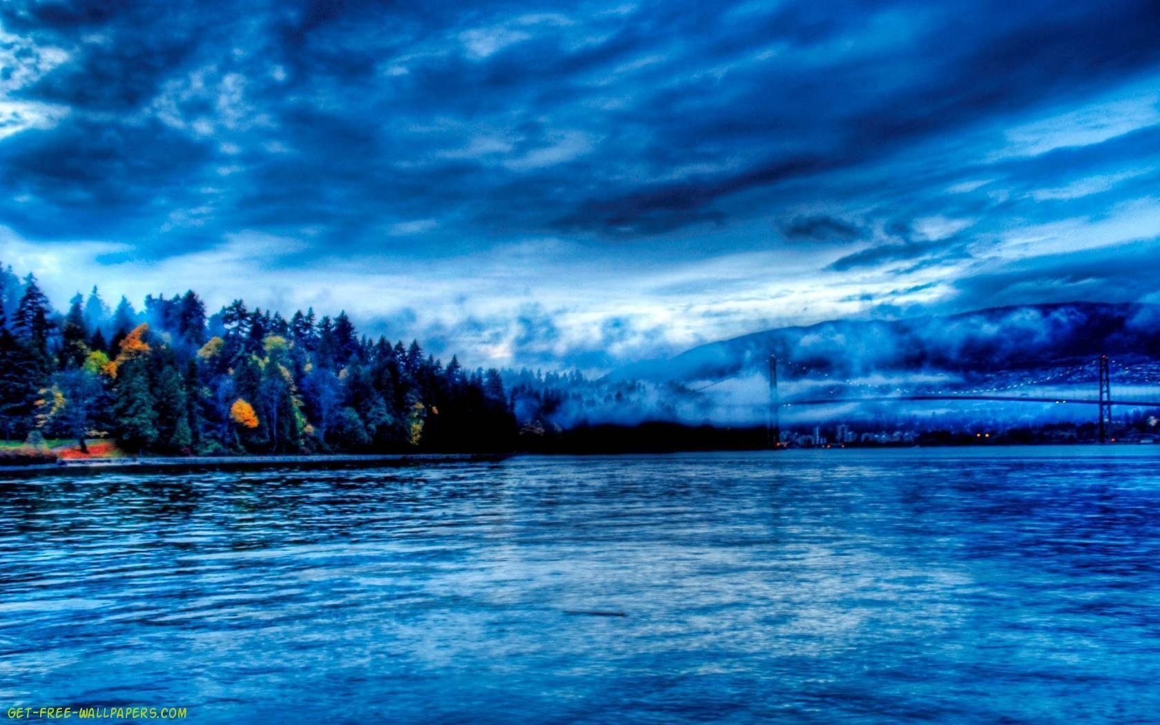 Blue Nature Wallpaper Hd Mywallpapers Site Pemandangan National Geographic Gambar