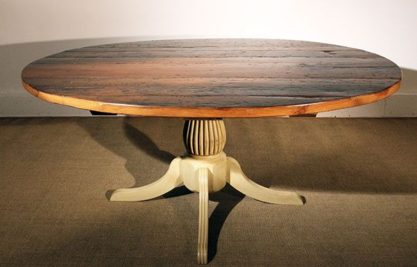 Oval Reclaimed Barn Wood Dining Table Wood Dining Table Decor