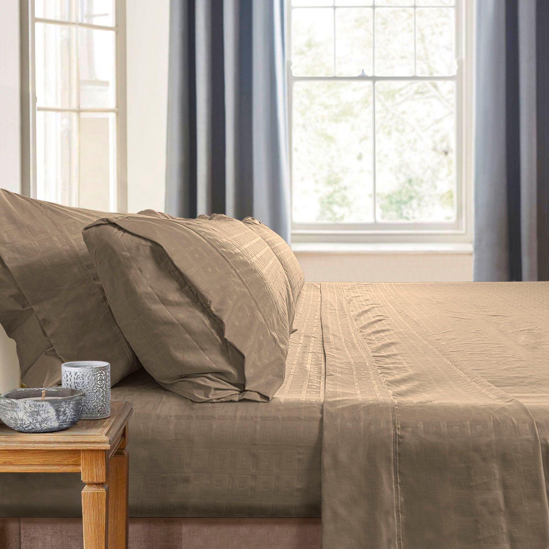 Gabriella Milano Bedsheets Tan Squares Most Comfortable Sheets Comfortable Sheets Bed Sheets