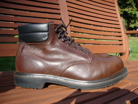 Red Wing boots steel toe heavy leather Size 11.5 c by Simplemiles ...