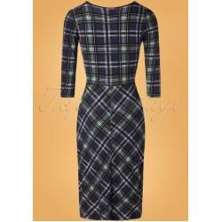 Bild von 50s Very British Tea Dress in Dark Blue Vive MariaVive Maria