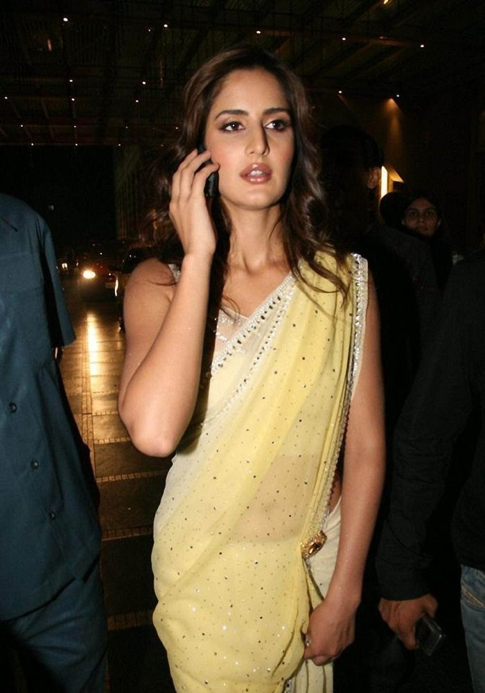 katrina kaif in yellow saree (With images) | Katrina kaif ...