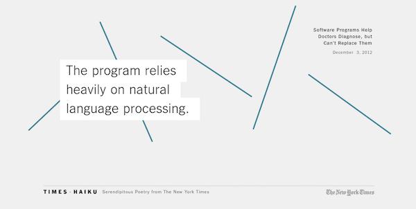 um robot escrevendo poemas no the new york times, um projeto do velho órgão #novomundo